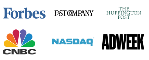 Forbes, Fast Company, The Huffington Post, CNBC, NASDAQ, Adweek